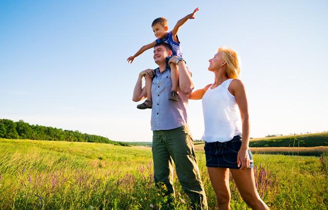 Família um bem de grande valor, um valor inestimável